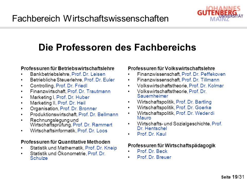Seite 19/31 Fachbereich Wirtschaftswissenschaften Professuren für Betriebswirtschaftslehre Bankbetriebslehre, Prof. Dr. Leisen Betriebliche Steuerlehr