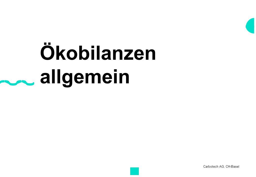 Carbotech AG, CH-Basel Ökobilanzen allgemein