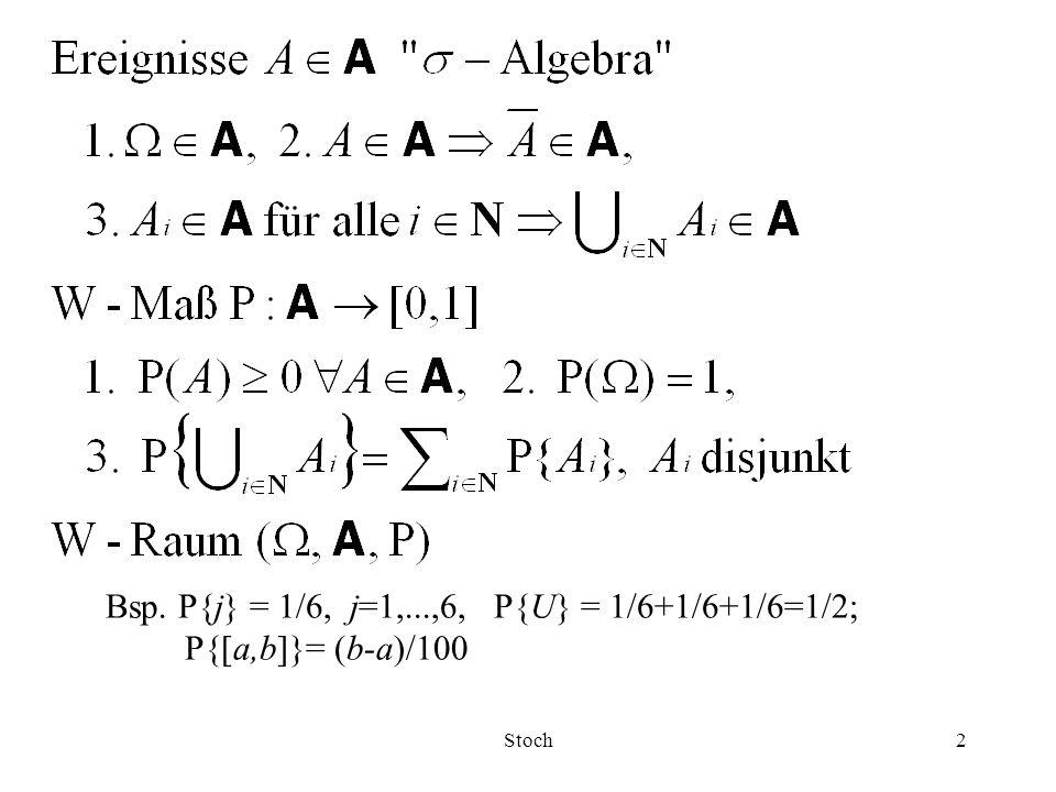 Stoch33 Vertrauensintervalle (VI) Seien X 1,...,X n IID ZV (mathematische Stichprobe), normalverteilt mit endlichem Erwartungswert  und endlicher Varianz  2 >0.