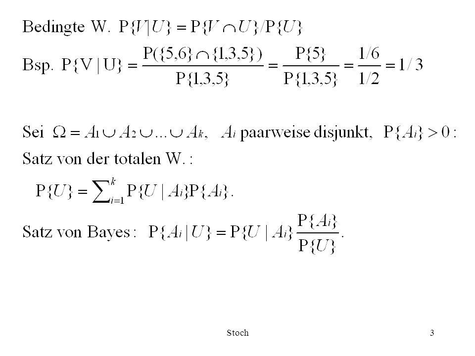 Stoch14 a -Quantil x a, 0< a <1: Der kleinste Wert x a mit F(x a )  a