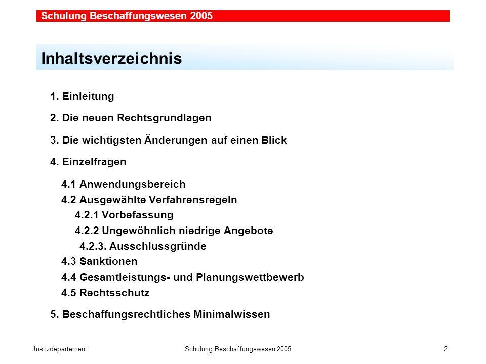 JustizdepartementSchulung Beschaffungswesen 2005 2 1.
