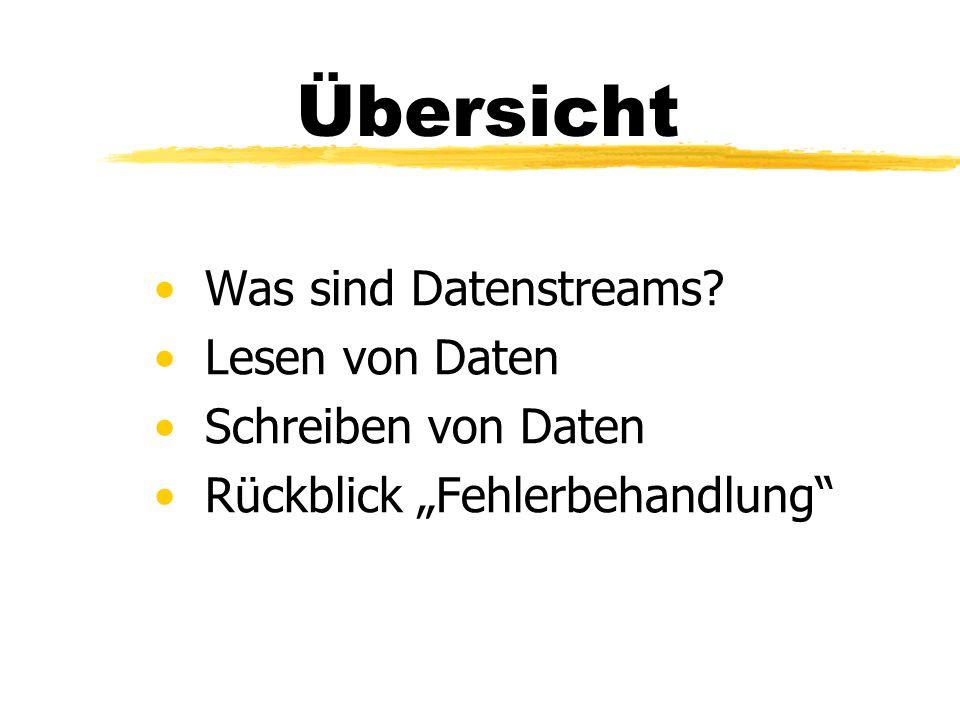 Was sind Datenstreams.