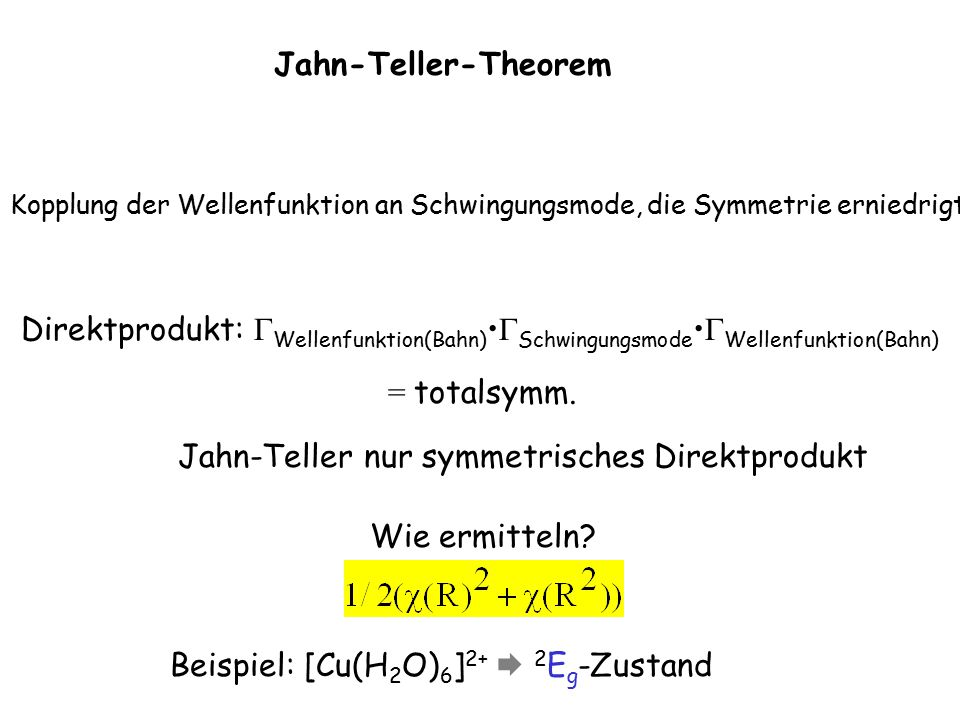 T d E 8 C 3 3 C 2 6 S 4 6  d R 2 E C 3 E C 2 E E  (R) 2 -1 2 0 0  (R 2 ) 2 -1 2 2 2 (  (R)) 2 4 1 4 0 0  (R 2 )+(  (R)) 2 6 0 6 2 2  + 3 0 3 1 1 = A 1 + E E 4 1 4 0 0 = A 1 + A 2 + E