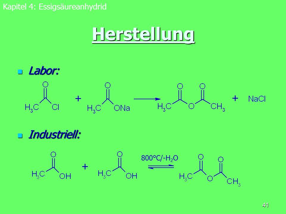 Versuch 6: Nachweis von Cholesterin nach Liebermann Kapitel 4: Essigsäureanhydrid