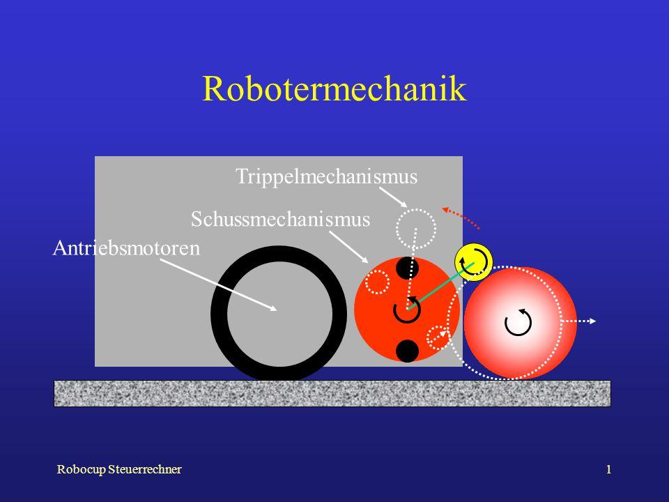 Robocup Steuerrechner1 Robotermechanik Antriebsmotoren Trippelmechanismus Schussmechanismus