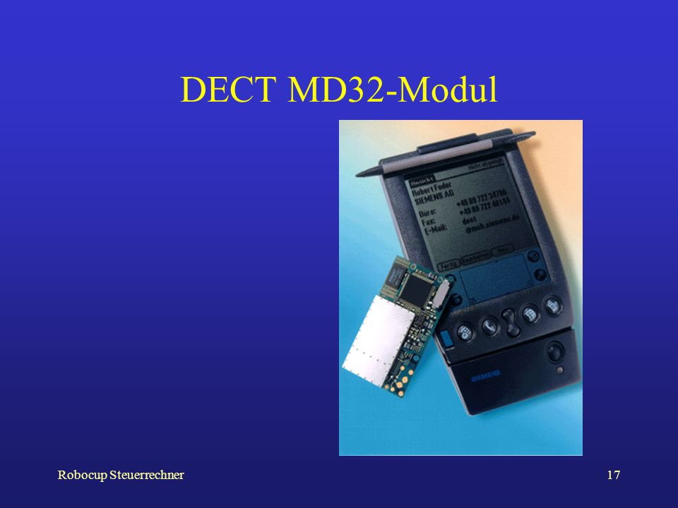 Robocup Steuerrechner17 DECT MD32-Modul
