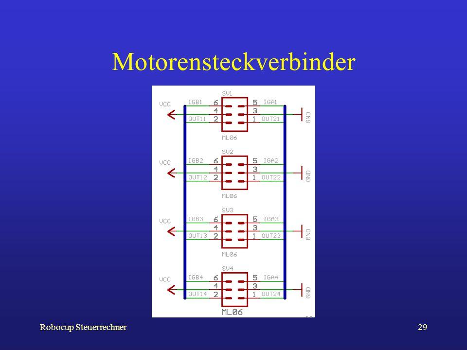Robocup Steuerrechner29 Motorensteckverbinder