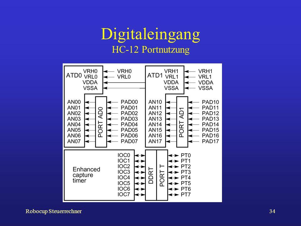 Robocup Steuerrechner34 Digitaleingang HC-12 Portnutzung