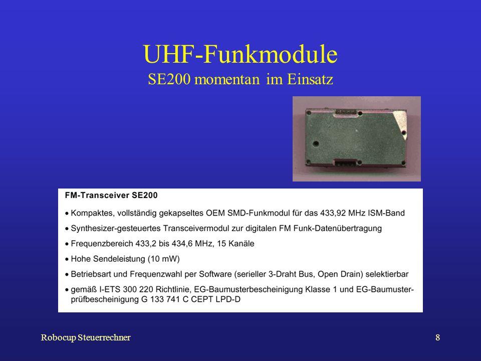Robocup Steuerrechner8 UHF-Funkmodule SE200 momentan im Einsatz