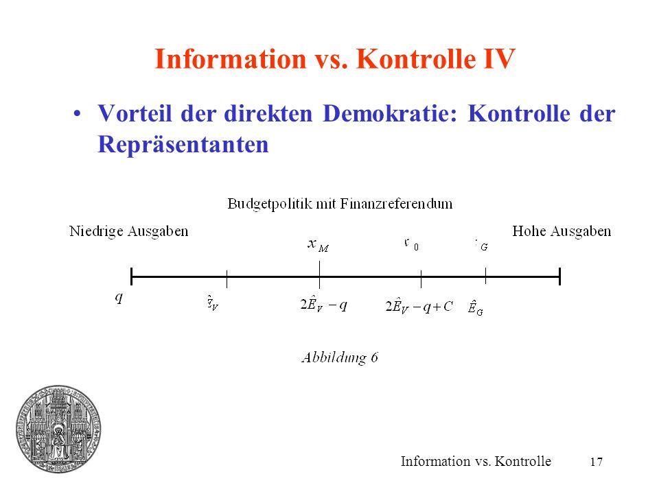 17 Information vs.