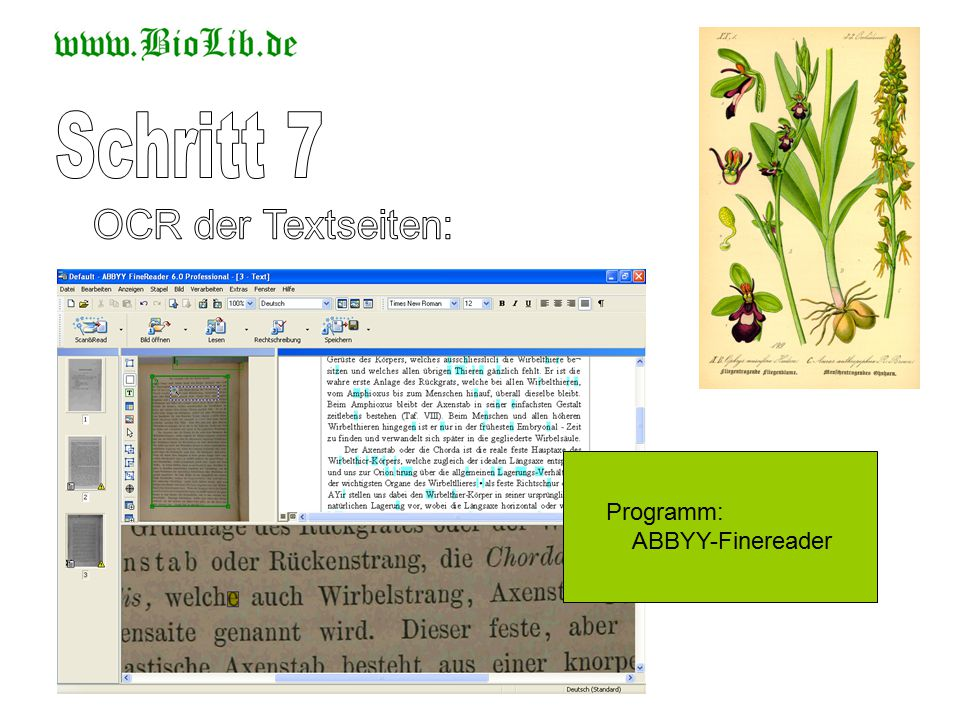 Programm: ABBYY-Finereader