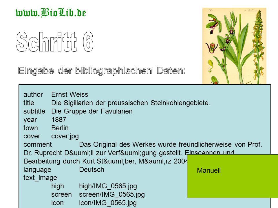 authorErnst Weiss titleDie Sigillarien der preussischen Steinkohlengebiete. subtitleDie Gruppe der Favularien year1887 townBerlin covercover.jpg comme