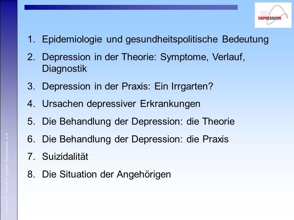 Copyright: Bündnis gegen Depression e.V. 5. Behandlung depressiver Störungen: Die Theorie