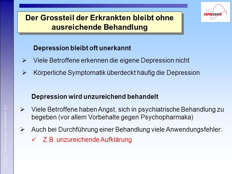 Copyright: Bündnis gegen Depression e.V. 8. Die Situation der Angehörigen