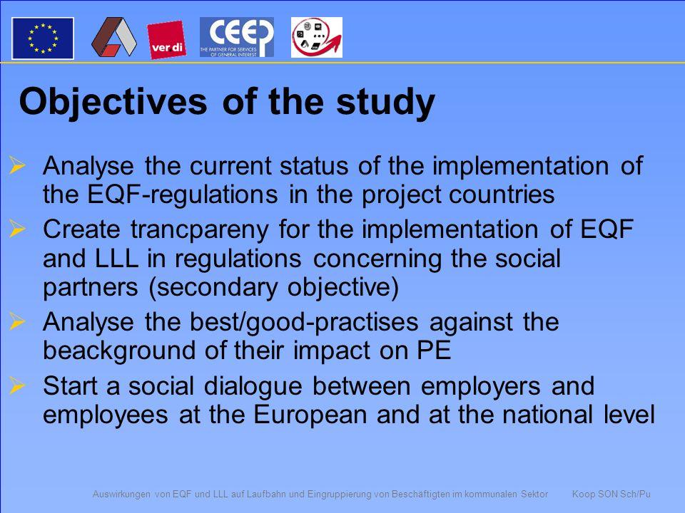 Auswirkungen von EQF und LLL auf Laufbahn und Eingruppierung von Beschäftigten im kommunalen Sektor Koop SON Sch/Pu B4 Access to qualification programmes 33 5 Equal for allFor special target groups 1721 Yes, but...