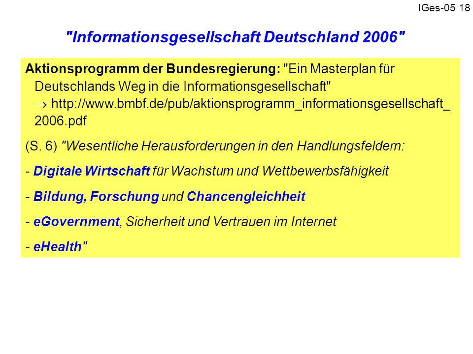 IGes-05 18 Aktionsprogramm der Bundesregierung: