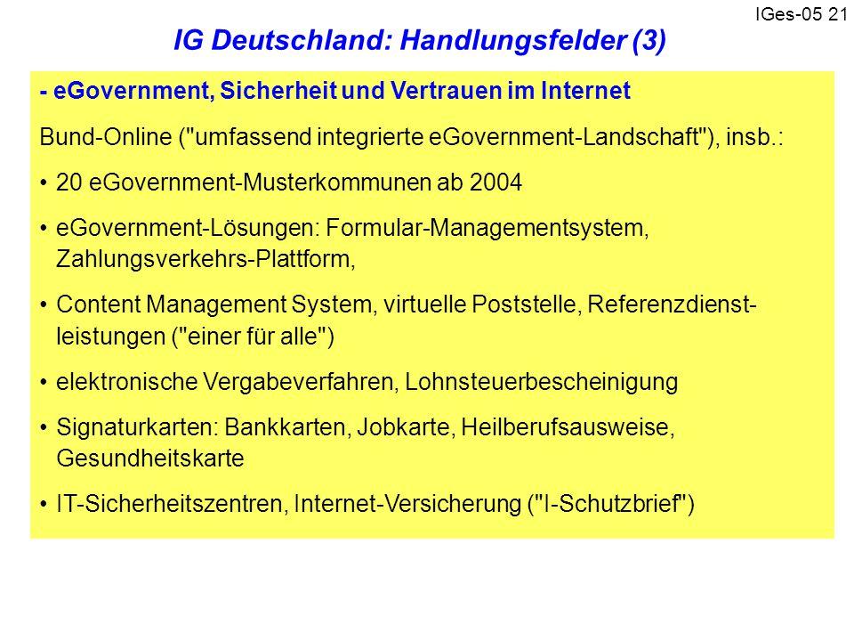 IGes-05 21 - eGovernment, Sicherheit und Vertrauen im Internet Bund-Online (