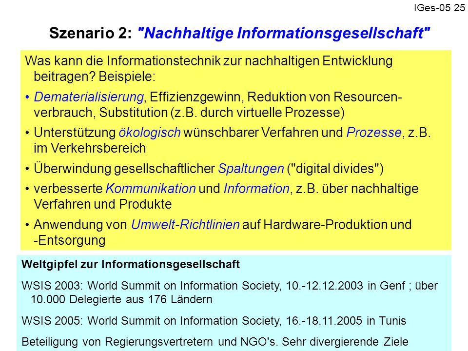 IGes-05 25 Szenario 2: