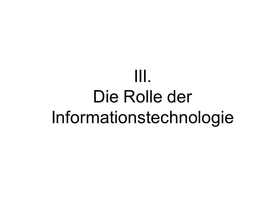 III. Die Rolle der Informationstechnologie