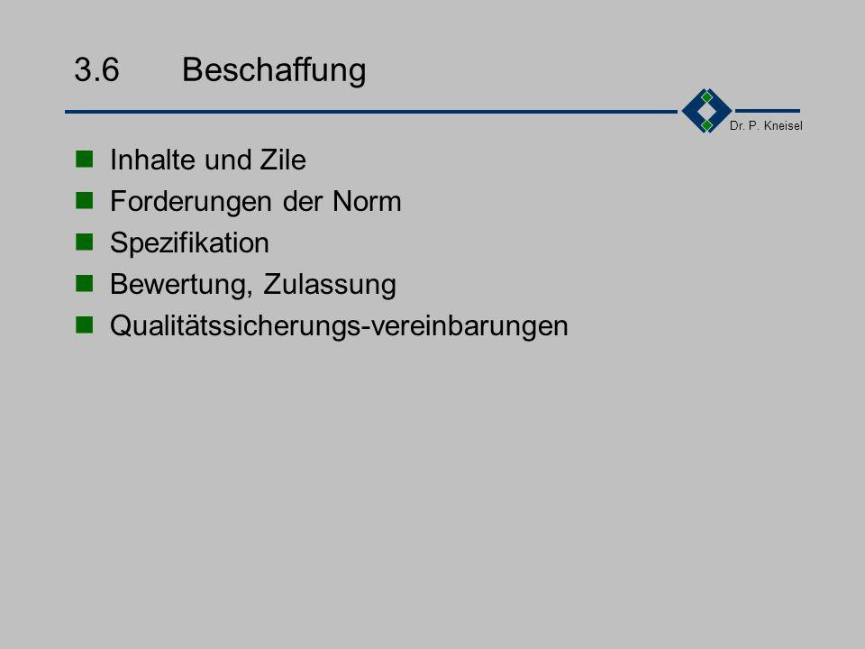 Dr. P. Kneisel 3.5.5Beispiel - Kennzeichnung Qualitätsdokumente : QXX00YYVersionsnummer x.x Qdient der Kennzeichnung des QM-Systems. XXMHQualitätsmana
