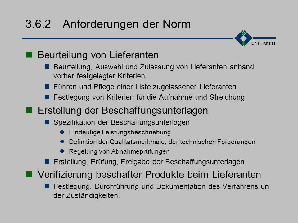 Dr. P. Kneisel 3.6.1Ziel und Inhalt Beschaffung von Produkten und Dienstleistungen zur benötigten Zeit, in der geforderten Qualität, in der erforderli
