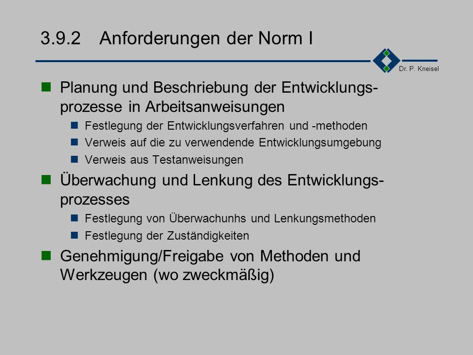 Dr. P. Kneisel 3.9.1Ziel und Inhalt Die erforderlichen Entwicklungsumgebungen sollen zuverlässig verfügbar gehalten werden. Beschreibung von Vorgehens