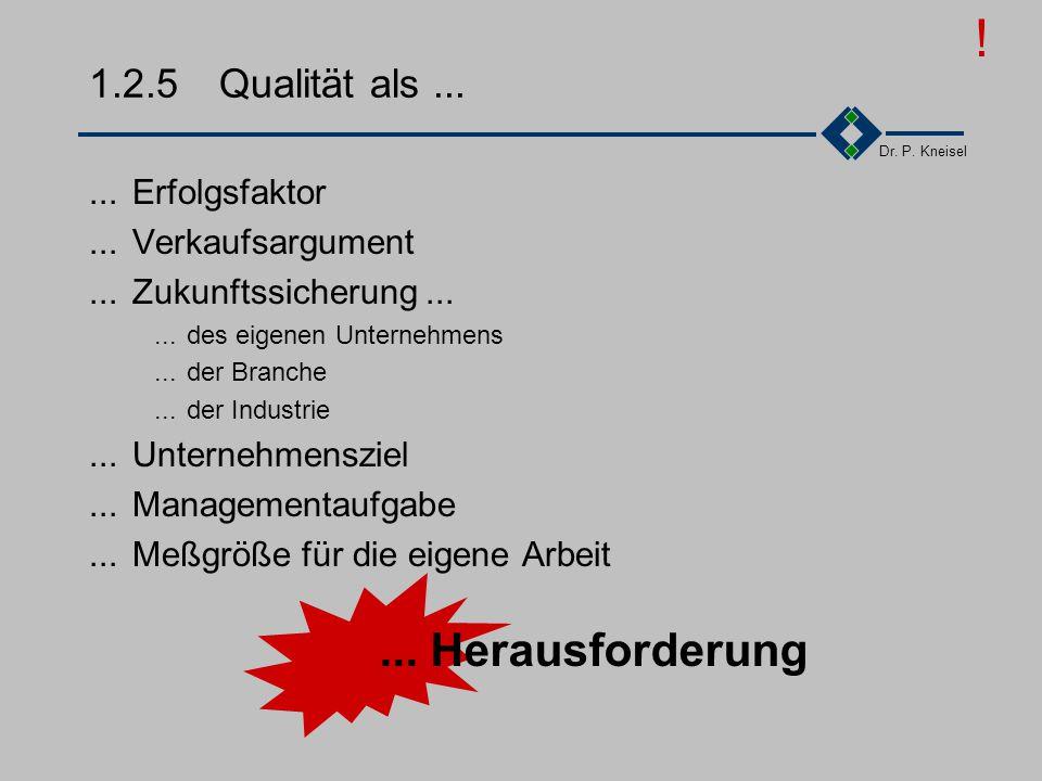 Dr. P. Kneisel 1.2.4Internationaler Vergleich II DeutschlandJapan Faktor J/D Verbesserungsvorschläge/100MA143235231 Durchschnittsprämie pro Vorschlag/
