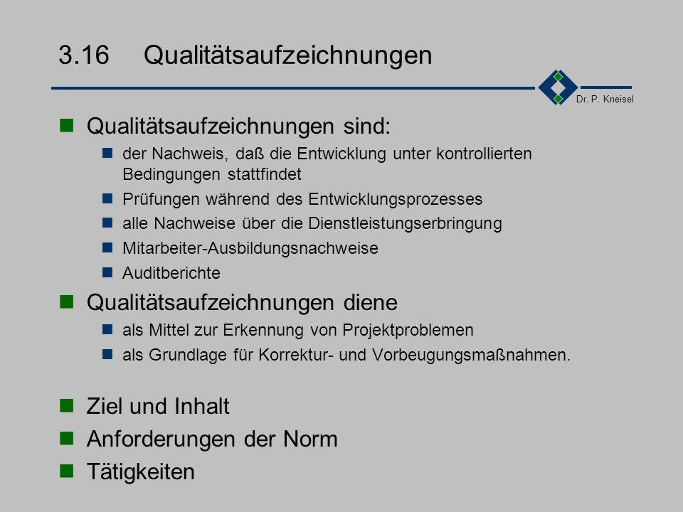 Dr. P. Kneisel 3.15.3Beispiel - Versand... Zu allen postalischen Versandabläufen sind administrative Mitarbeiter eingewiesen. Des weiteren ist sicherg