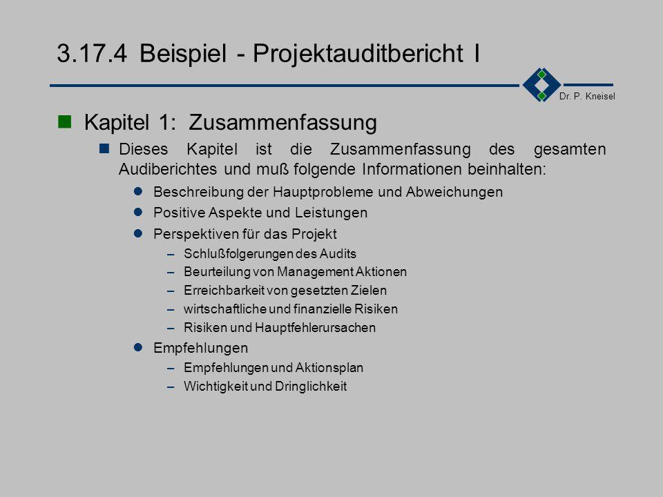 Dr. P. Kneisel 3.17.3Tätigkeiten 1.Planen von internen Audits / Erstellen und Aktualisieren des Auditplanes (Zeitplan) Vorabinformation für die Bereic