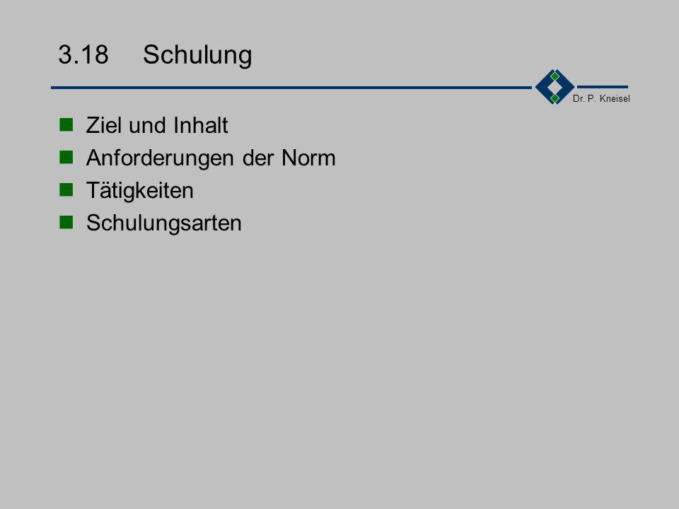Dr. P. Kneisel 3.17.4Beispiel - Projektauditbericht II Kapitel 2:Hintergrundinformationen zum Audit Kapitel 3Projektziele Kapitel 4:Projektgeschichte