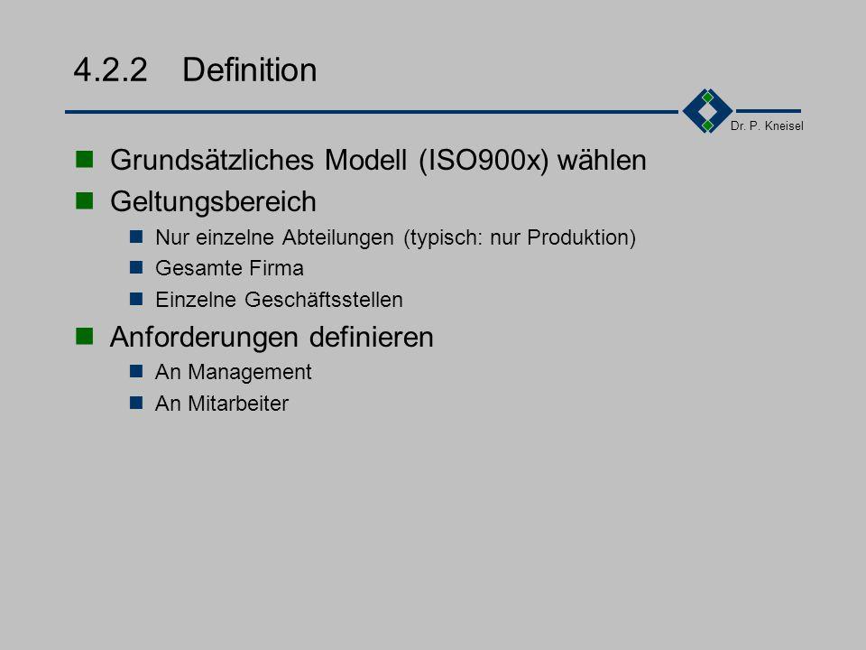 """Dr. P. Kneisel 4.2.1Information Vorurteile abbauen Q kostet Q überwacht """"Wer nix werd werd Q""""... Ziele vermitteln Für die Firma (Kostenminimierung, Ma"""