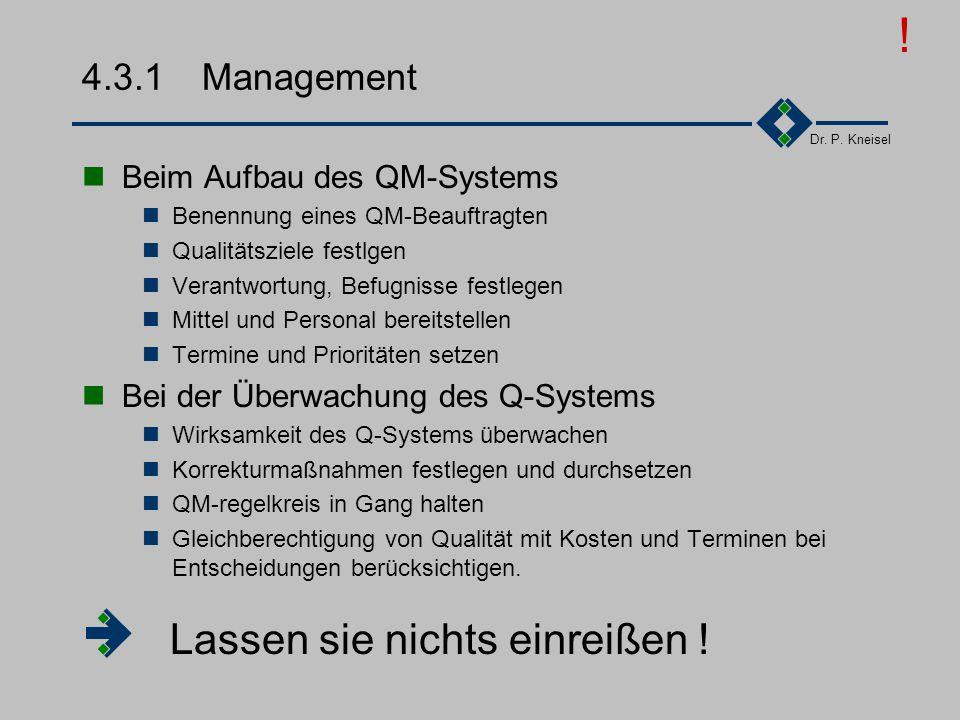 Dr. P. Kneisel 4.3Zuständigkeiten Management Mitarbeiter