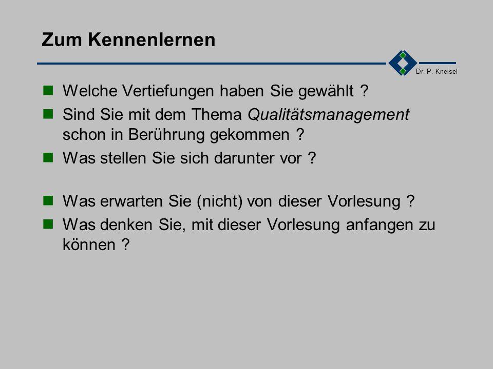 Dr. P. Kneisel 3.19Wartung Ziel und Inhalt Anforderungen der Norm Tätigkeiten