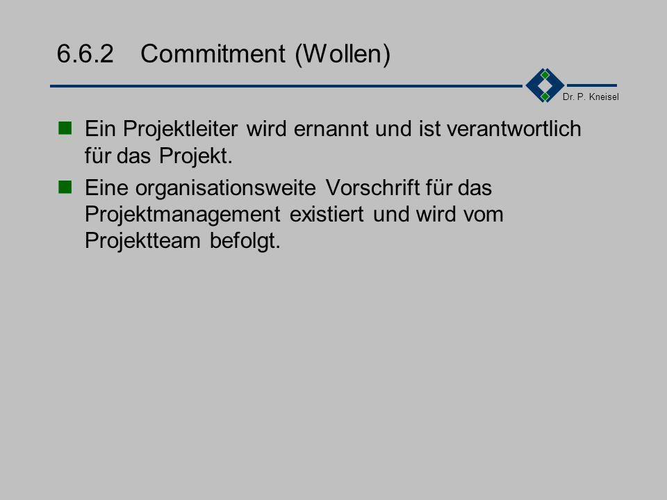 Dr. P. Kneisel 6.6.1Goals (Ziele) Ist-Rest wird mit dem Soll verglichen. Bei signifikanten Abweichungen werden Korrekturmaßnahmen durchgeführt. Änderu