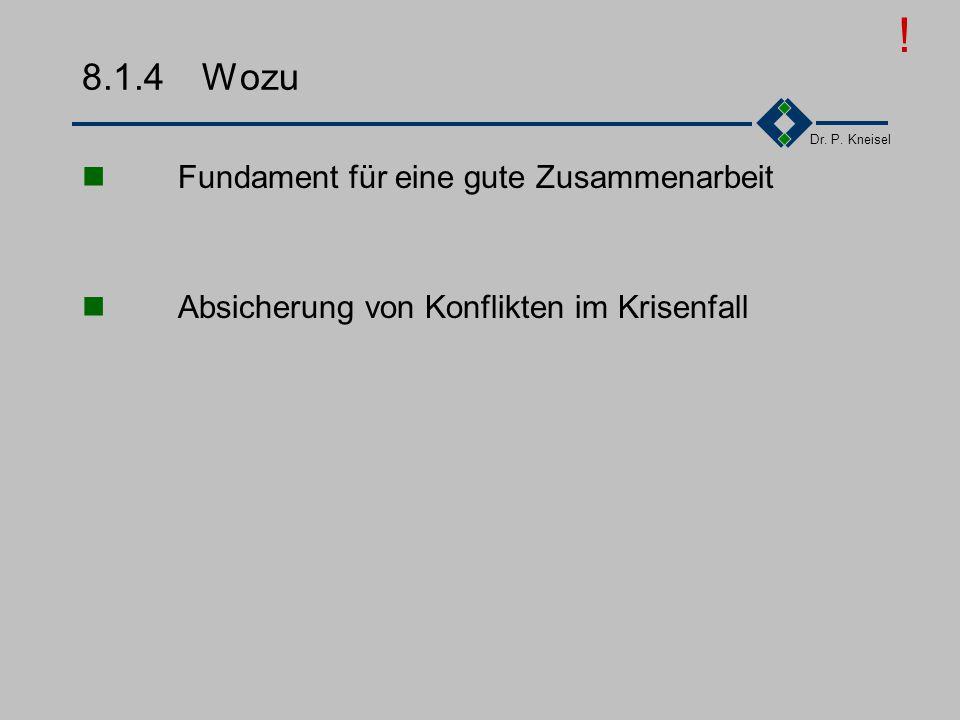 Dr. P. Kneisel 8.1.3Unbestimmte Rechtsbegriffe Verständlichkeit (abstrakt, kurz, unscharf, dehnbar) Generalklauseln (Auslegung, Treu und Glauben, Gebr