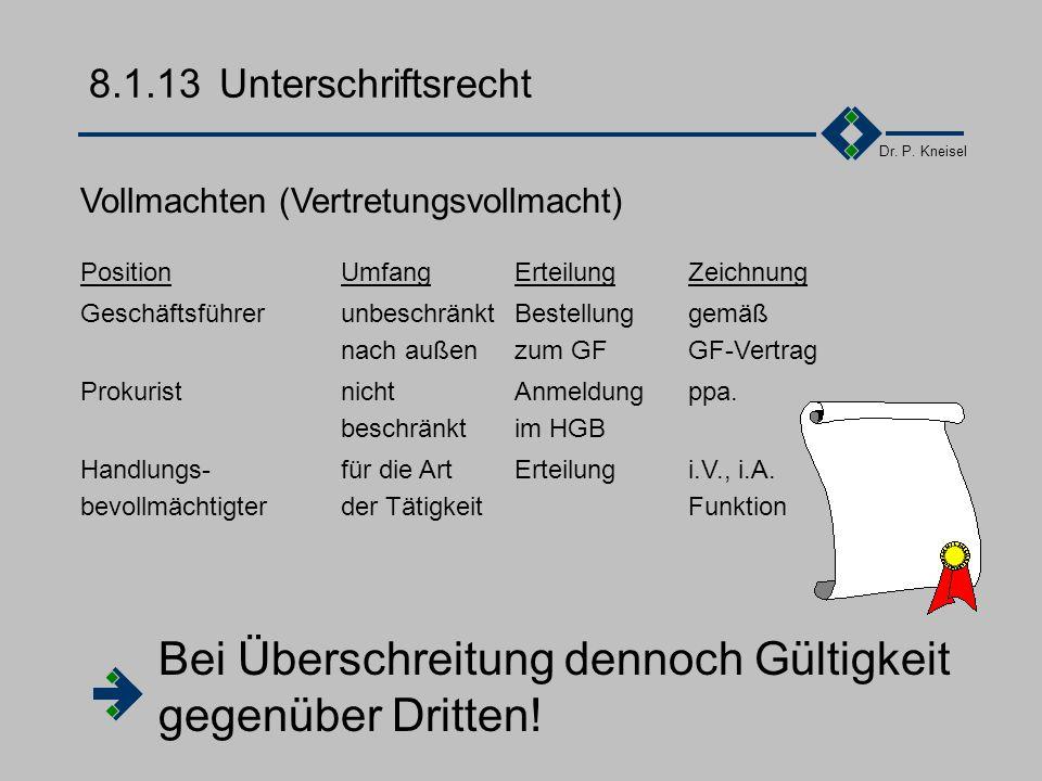 Dr. P. Kneisel 8.1.12Vertragsähnliche Konstrukte Rahmenvertrag ist rechtlich gesehen kein Vertrag Festlegung allgemeiner rechtlicher Grundlagen, Funda