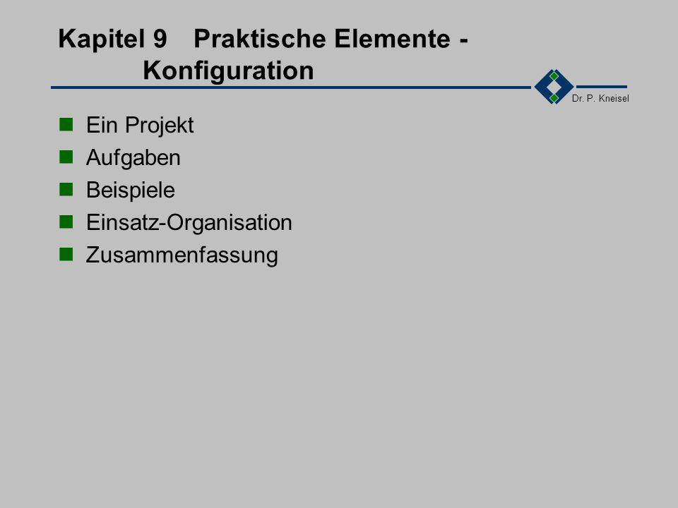 Dr. P. Kneisel 8.6Zusammenfassung Vertrag Einordnung Probleme, Typem, Anwendungen Vertragsvollzug Abnahme, Gewährleistung, Haftung Vertragsgestaltung