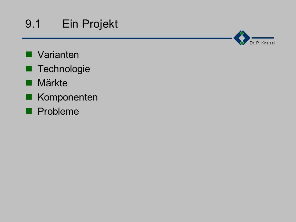 Dr. P. Kneisel Kapitel 9Praktische Elemente - Konfiguration Ein Projekt Aufgaben Beispiele Einsatz-Organisation Zusammenfassung