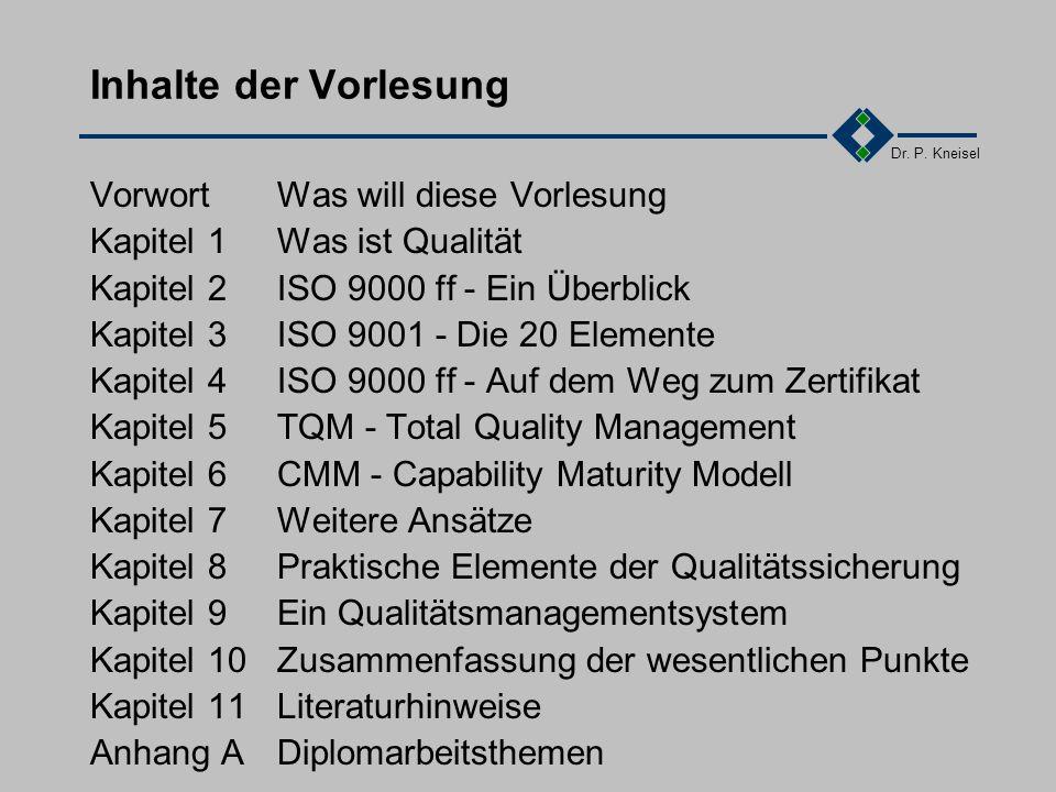 Dr.P. Kneisel 2.5Übung Recherchieren Sie nach den DIN ISO EN Normen.