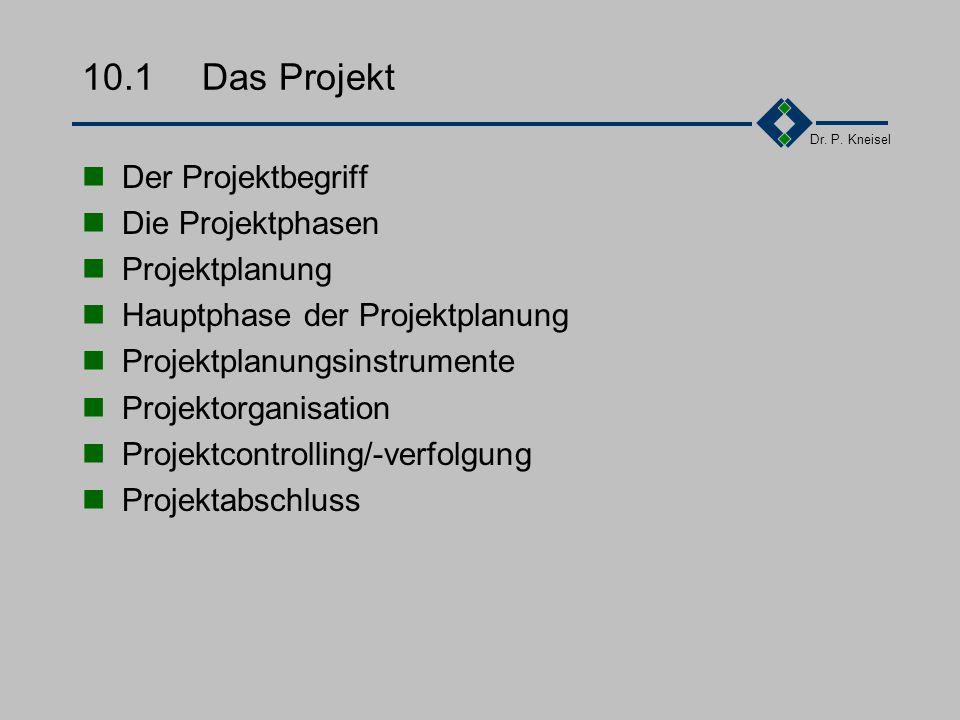 Dr. P. Kneisel Kapitel 10Praktische Elemente - Das Projekt Das Projekt Führung Kreativität Zusammenfassung