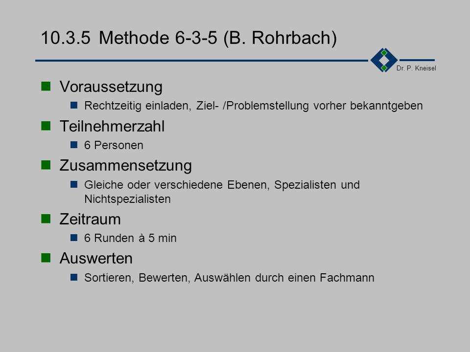 Dr.P. Kneisel 10.3.4Brainstorming - Varianten Destruktiv-Konstruktives Brainstorming 1.