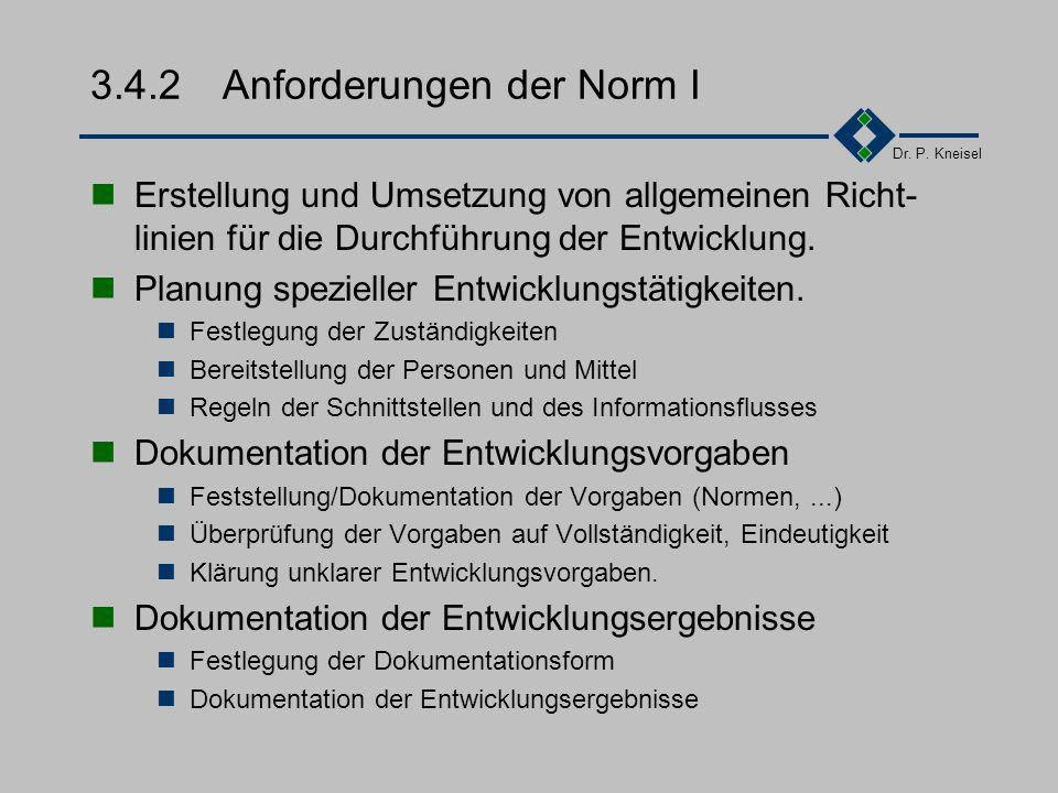 Dr. P. Kneisel 3.4.1Ziel und Inhalt Sicherstellung, dass nur Produkte und Dienstleis- tungen entwickelt werden, die vom Markt gefordert und vom Kunden