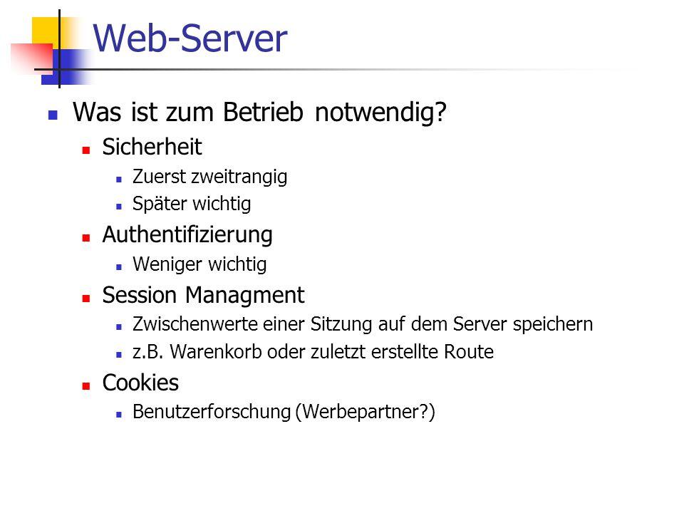 Web-Server Was ist zum Betrieb notwendig.
