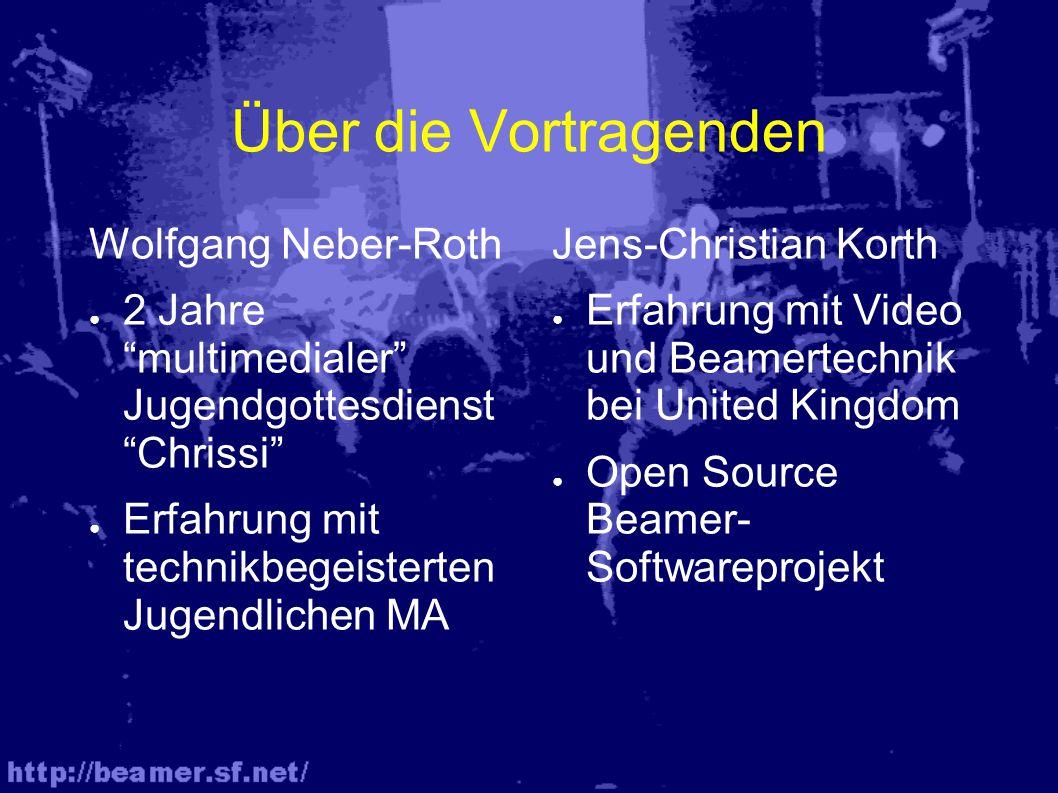 Interessante, kostenlose Software ● Beamer (Liedtextprojektionsprogramm) http://beamer.sf.net/ ● OpenOffice(MS-Office-Ersatz incl.