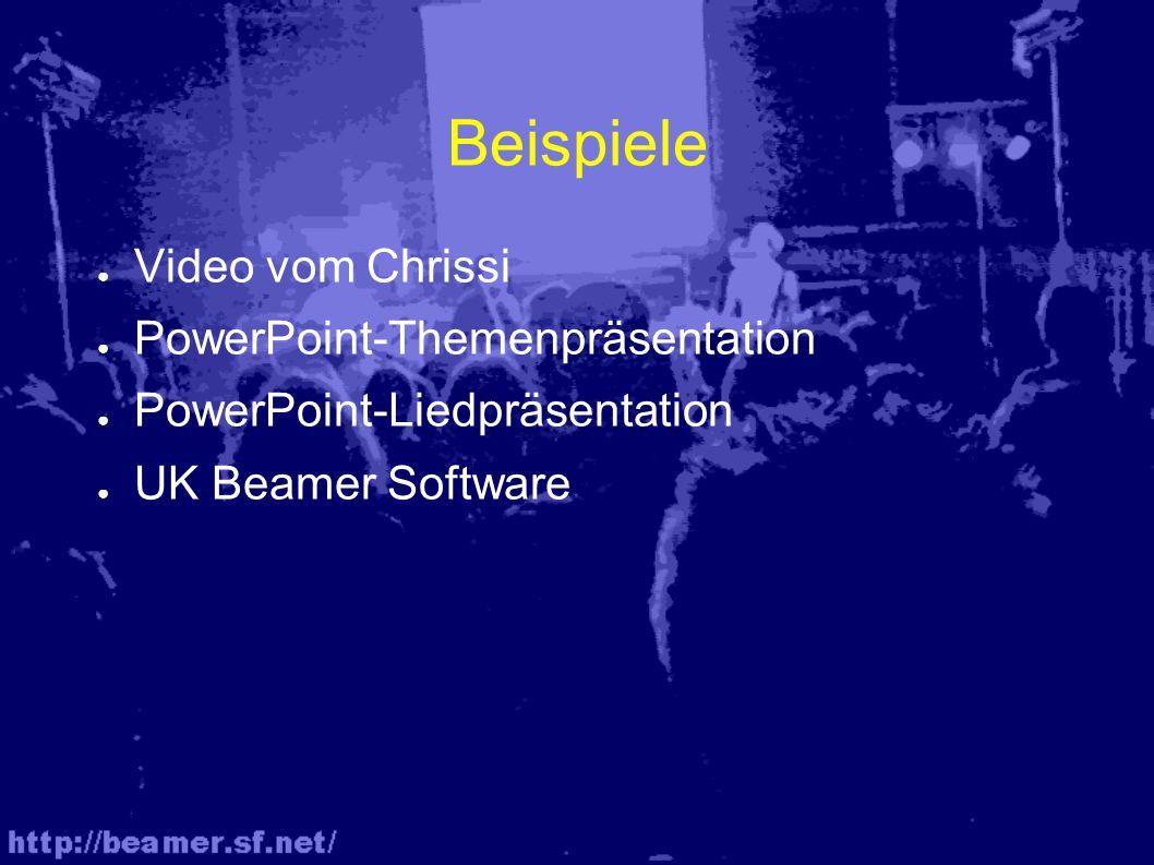 Einsatzmöglichkeiten von Video ● Multimedia Anspiele (z.B.