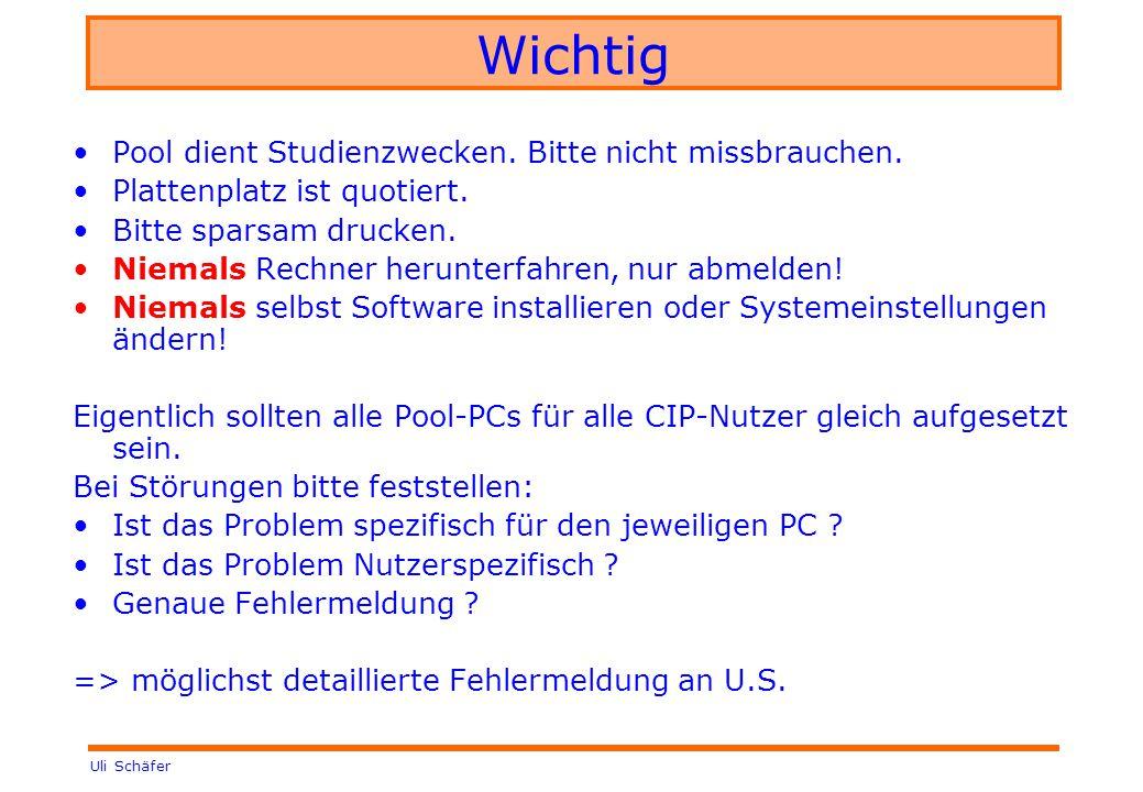 Uli Schäfer Wichtig Pool dient Studienzwecken. Bitte nicht missbrauchen.