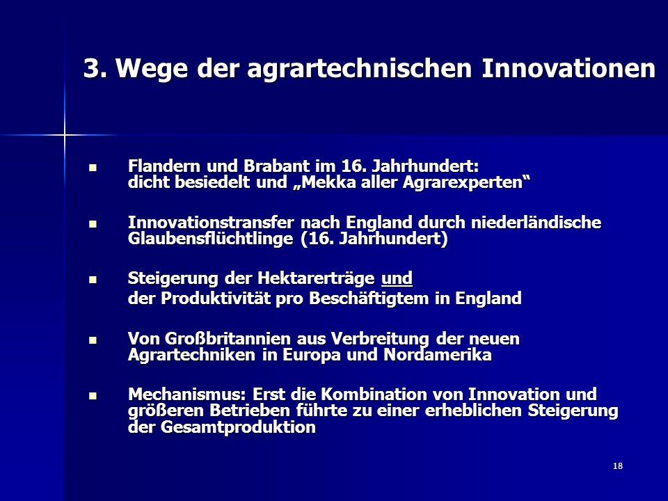 18 3.Wege der agrartechnischen Innovationen Flandern und Brabant im 16.