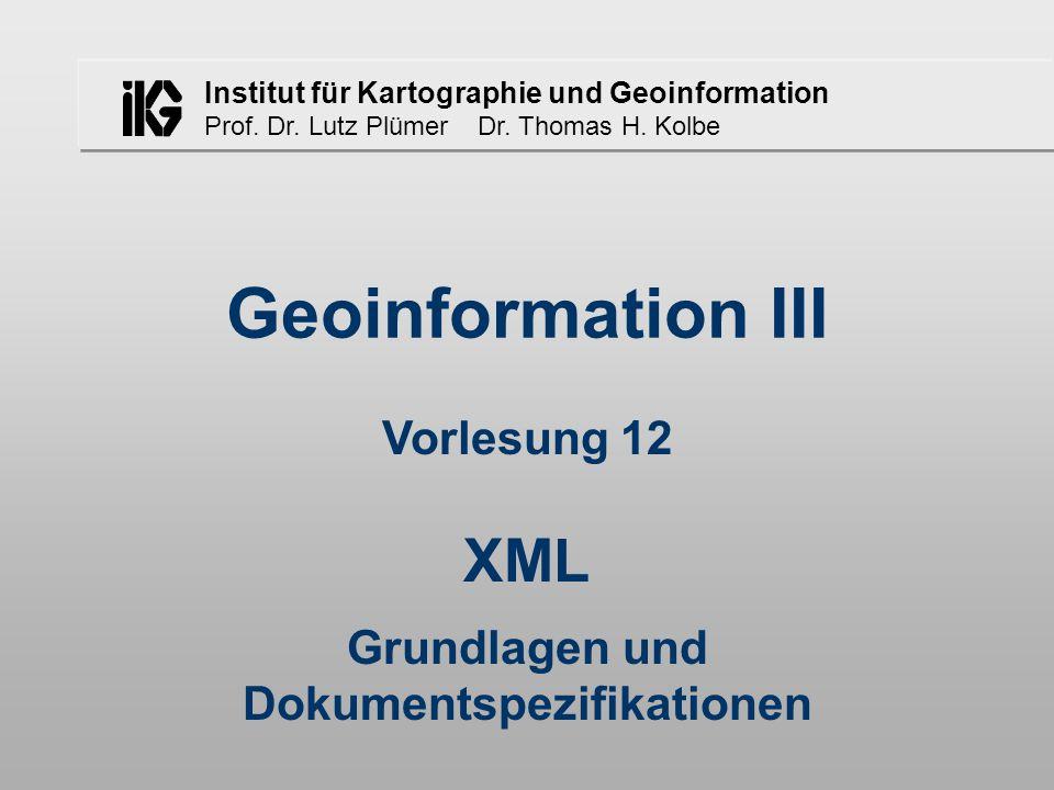 Thomas H.Kolbe - Geoinformationen III - 5. Semester - WS 02/03 - Vorlesung 12 2 1.