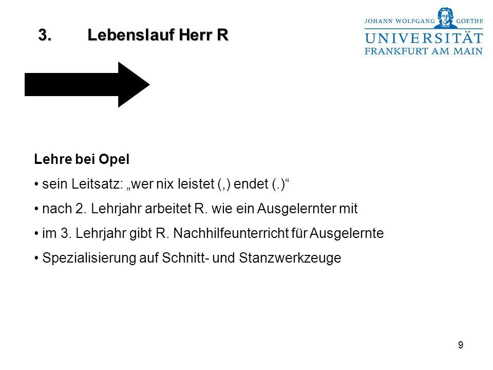 """9 Lehre bei Opel sein Leitsatz: """"wer nix leistet (,) endet (.) nach 2."""