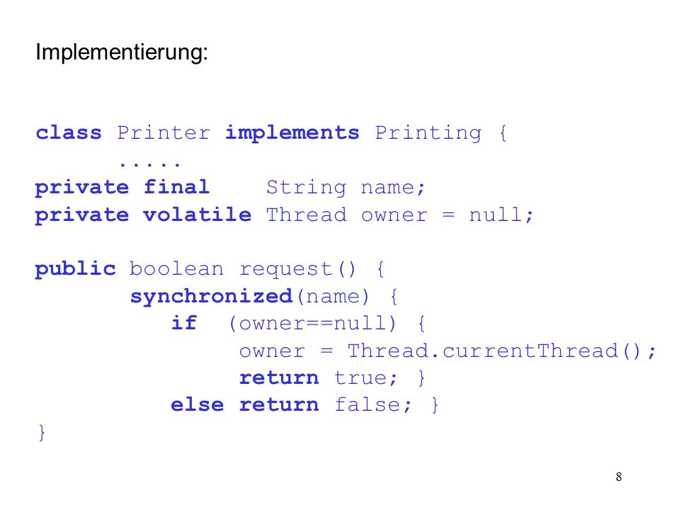 19 Implementierung: class HashMap implements Map {.....
